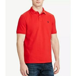 RALPH LAUREN POLO MENS SZ M RED SHORT SLEEVE POLO